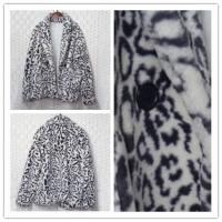 Buy cheap 100% Polyester Cropped Womens Faux Fur Leopard Coat Soft And Warm product