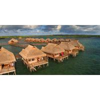 Buy cheap Small Modular Prefabricated Hotel , Overwater Bungalow With Light Steel Frame from wholesalers