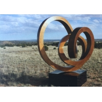 Buy cheap Contemporary Abstract Corten Steel Sculpture With Granite Base from wholesalers