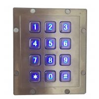 Buy cheap IP65 rear panel mounting vending machine keypad by backlit stainless steel material from wholesalers