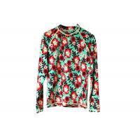 Buy cheap Scuba Womens Rash Guard Shirt Flower Pattern For Diving Surfing Swimming from wholesalers