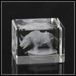 Buy cheap Laser Engraved Crystal Block Rhinoceros (ND-1013) from wholesalers