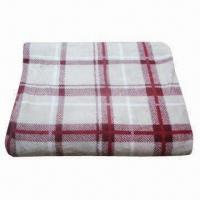 Buy cheap Plaid Printing Coral Fleece Blanket, Measures 150 x 200cm from wholesalers