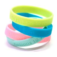 Buy cheap Eco-Friendly/Silicone/Soft PVC/Rubber Silicone Bracelet with Custom Design and Lower Price from wholesalers