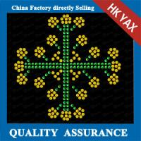 Buy cheap hot fix shining rhinestone transfer ;hotfix transfer for christmas;latest designer for christmas decoration from wholesalers