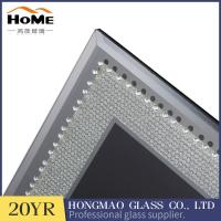 Buy cheap Table Top Display Glitter Glass Photo Frame 180*230*15MM With Matte Button from wholesalers