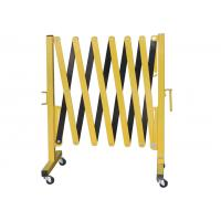 Metal Expandable Barrier Gates , Portable Folding Safety Barrier With Casters