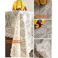 Buy cheap 100% cotton beige 1.5gg crotch cutout handmade crochet table cloth 110 160 from wholesalers