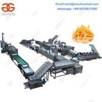 Buy cheap Full-automatic Frozen French Fries Processing Line/Factory Frozen French Fries Making Line from wholesalers