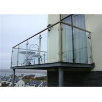 Buy cheap 304 316 Stainless Steel And Glass Railing Systems , Tempered Glass Balcony Railing from wholesalers