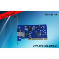 Buy cheap Competitive E1 card with single port digital pci interface from wholesalers