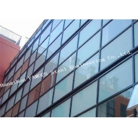 China Aluminum Framed Glazed Metal Glass Curtain Wall Easy Installation on sale