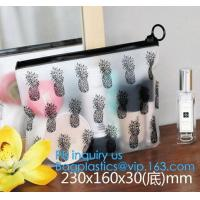 Buy cheap Transparent Sundry Kit PVC Cosmetic Bag, Bag with Plastic Zipper and Slider Wash bag, slider lock zip pouch travel cosme from wholesalers