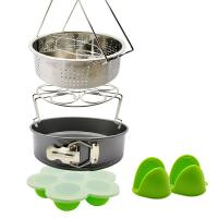 Buy cheap Best Product Wholesale Pot Accessories Set 10 Pcs Silicone Steamer Basket, Egg Rack,Dish Plate Clip, Egg Bites Mold, Oven Mitts from wholesalers