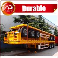 Buy cheap Hot Sale Tri-axle 20ft 40ft flatbed trailer , 40 ton flatbed semi trailer , flatbed trailer with container locks from wholesalers