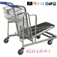 Buy cheap Heavy Duty Folding Warehouse Trolley With 4x5 Inch Swivel PU Wheel from wholesalers