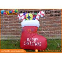 Buy cheap Boot or Snowman Inflatable Christmas Decorations with 1 Year Warranty from wholesalers
