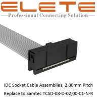 Buy cheap IDC Socket Cable Assemblies 2.0mm Pitch, replace to Samtec TCSD-08-D-02,00-01-N-R from wholesalers