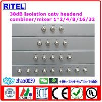 Buy cheap 38dB isolation catv Analog Headend Passive Combiner 1*2/3/4/8/12/16/24/32 from wholesalers