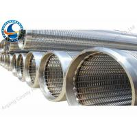 Buy cheap Vee-Shaped Wire Wrap Screen , Wedge Slotted Screen Pipe Used In Water / Oil Well product