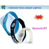 Buy cheap custom energy silicone bracelet with best quality/cheap price from wholesalers
