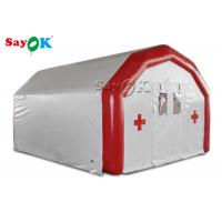 Buy cheap Large Mobile White Inflatable hospital Inflatable Airtight Medical Tent To Set Medical Beds from wholesalers