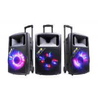 Buy cheap Wireless Disco Light Rechargeable Trolley Speaker For Party / Bluetooth Dj Speakers from wholesalers