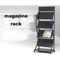 Buy cheap Brochure Magazine Display Shelf , Portable Brochure Display Stands With Logo Design from wholesalers