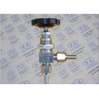 Buy cheap 1Cr18Ni9Ti Grooved Piping Systems / Angle  panel mount needle valve for ventilation from wholesalers