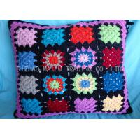 Buy cheap Blue / Yellow / Black Knit Pillow Covers Hollow Out Large Knitted Cushions from wholesalers