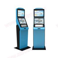 Buy cheap High quality customized functional lobby Self service dual screens kiosk with RFID card reader and coin hoppers from wholesalers