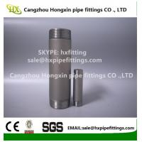 Buy cheap Shot blasting Astm ANSI B1.20.1 carbon steel pipe nipple,barrel nipple,SCH40,SCH80 from wholesalers