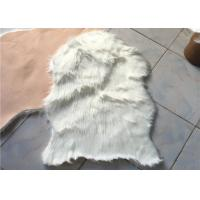 Buy cheap Anti Slip Soft White Australian Sheepskin Rug Durable With 60mm - 70mm Wool from wholesalers