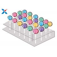 Buy cheap 21 Holes Clear Acrylic Cake Pop Stand , Transparent Acrylic Lollipop Stand from wholesalers