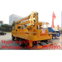 Buy cheap Hot sale high quality ISUZU 16m overhead working truck, Factory sale Isuzu 4*2 LHD 16m aerial working platform truck from wholesalers