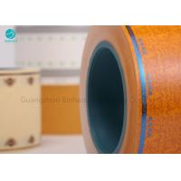 Yellow Cork Tipping Paper For Cig Filter Rod , Colored Laser Perforated Lip Release