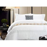 Buy cheap Comfortable White Jacquard Hotel Bedding Duvet Covers Luxury King Size from wholesalers