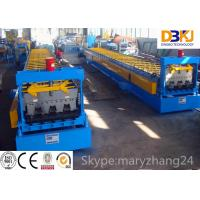 Buy cheap Steel structure metal deck roll forming machine steel floor decking cold roll forming machine from wholesalers