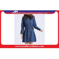 Buy cheap Custom Casual Denim Long Trench Jacket / Dust Coat Jackets for Women from wholesalers