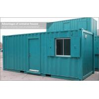 Buy cheap Blue or Green Stainless Steel 20ft Shipping Container Home / House for Storage from wholesalers