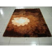 Buy cheap Silky Shiny Soft Polyester Shaggy Rug Brown color multi Carpet from wholesalers