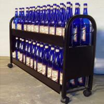 Buy cheap 2 Tiers Metal Floor Wine Display Rack from wholesalers