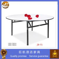 Plywood folding round restaurant table 98885458 for Cuisine table retractable