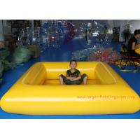 Buy cheap 0.9 MM Pvc Tarpaulin Blue / Yellow Inflatable Swimming Pools Portable Above Ground from wholesalers