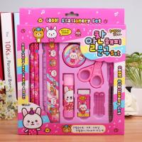 Buy cheap High quality Big School Stationery Blister packing card pen/pencil/sharpener stationery set for students from wholesalers