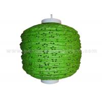 Buy cheap 100% Handmade Eyelet Paper Lanterns wedding decorations Green silver white Color product