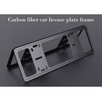 Buy cheap Scratch Resistant Lightweight Carbon Fiber License Plate Frame from wholesalers
