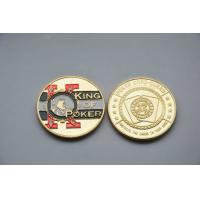 Buy cheap Poker chip card guard gold Commemorative Coins with silk screen , offset printing from wholesalers