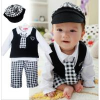 Buy cheap baby boy set gentleman five Pieces baby clothes suit with hat from wholesalers