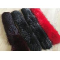 Buy cheap Dyed Genuine Raccoon Black Real Fur Collar Real Warm For Men Jacket / Coat from wholesalers